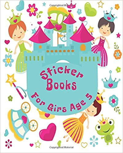 Sticker Books For Girls Age 5: Blank Sticker Book, 8 x 10, 64 Pages