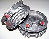 Garage Door CABLE DRUMS 1-PAIR up to 8' High Doors - 400-8 NEW