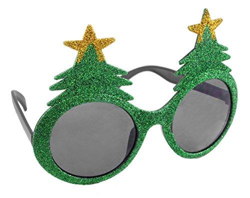 Glittery Christmas Tree Holiday - Tree Sunglasses Christmas