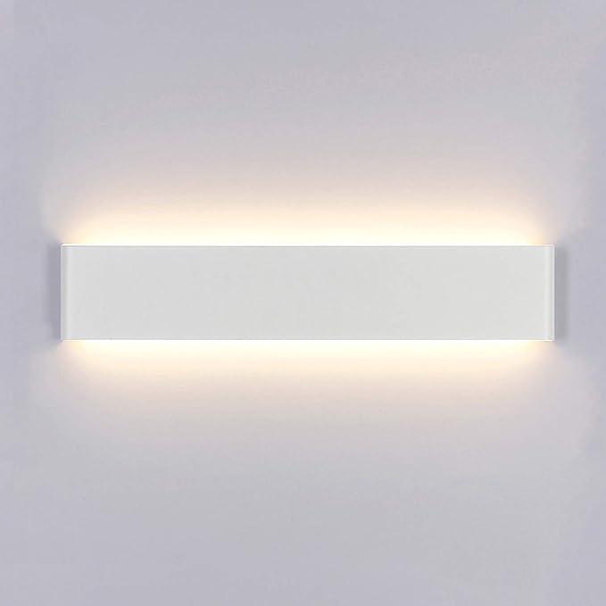 Taille totale : 105 * 90 * 130mm patios Yafido 2pcs 12W LED Applique Murale Exterieur 3000K Blanc chaud Luminaire applique murale IP65 Acrylique 960LM Pour jardins murs ext/érieurs