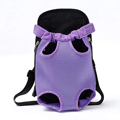 LIAOYLY Pet Dog Carrier Backpack Mesh Camouflage Outdoor Travel Products Breathable Shoulder Handle Bags Small Cats Chihuahua,Purple,L, ()