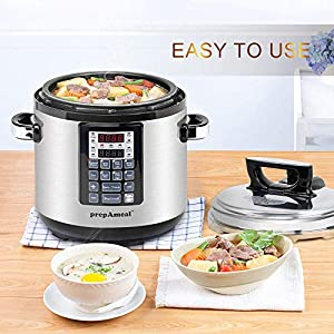 prepAmeal-6QT-8-IN-1-3-Speeds-Options-Pressure-Cooker-with-Accessories-Set-Multi-Use-Programmable-Instant-Cooker-Pressure-Pot-with-16-Smart-Programs-Slow-Cooker-Rice-Cooker-Steamer-Saut-Yogurt-Maker-W