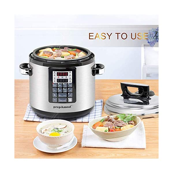 prepAmeal 6QT 8-IN-1 ( 3 Speeds Options ) Pressure Cooker with Accessories Set, Multi-Use Programmable Instant Cooker… 3