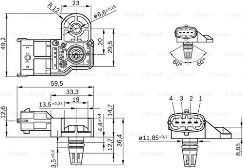 Bosch Original Equipment 0261230280 Boost Pressure Sensor