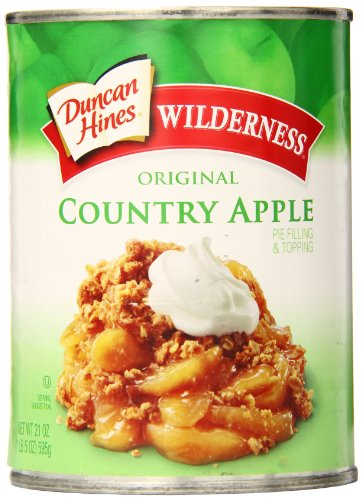 Wilderness Pie Filling & Topping, Original Country Apple, 21 Ounce (Pack of 12)