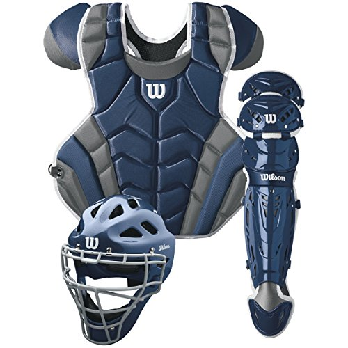 Kit Protective Gear - Wilson C1K Catcher's Gear Kit, Navy
