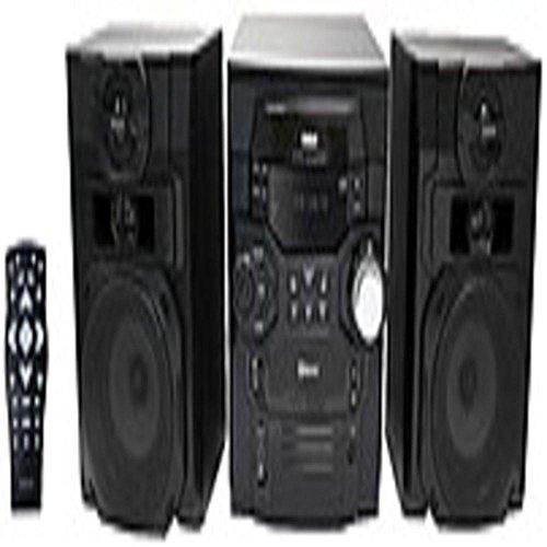 RCA RS2867B 300 Watts 5-CD Bluetooth Shelf Music System -...
