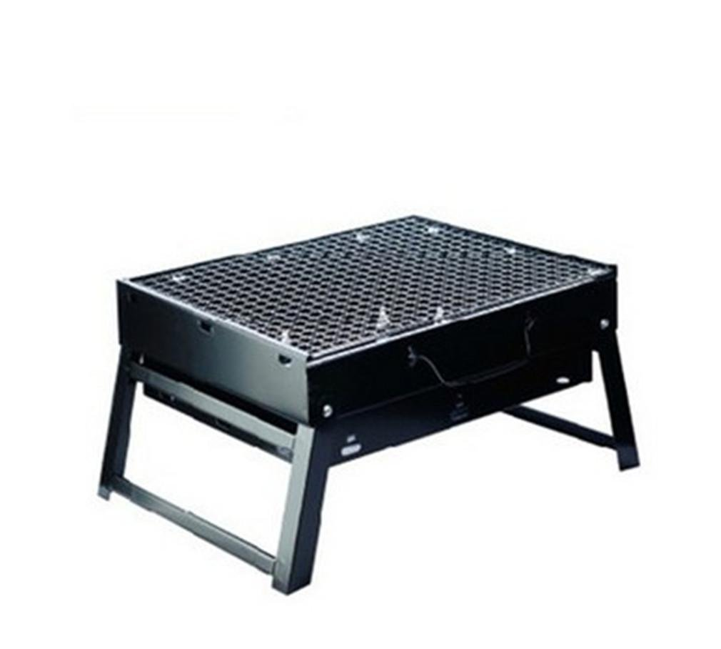 BBQER-A Folding Home Grill Outdoor Portable Kohle BBQ Ofen, Edelstahl schwarz mit Iron Mesh