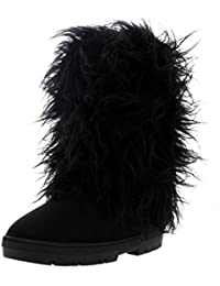 Womens Long Covered Rain Winter Warm Tall Snow Boots