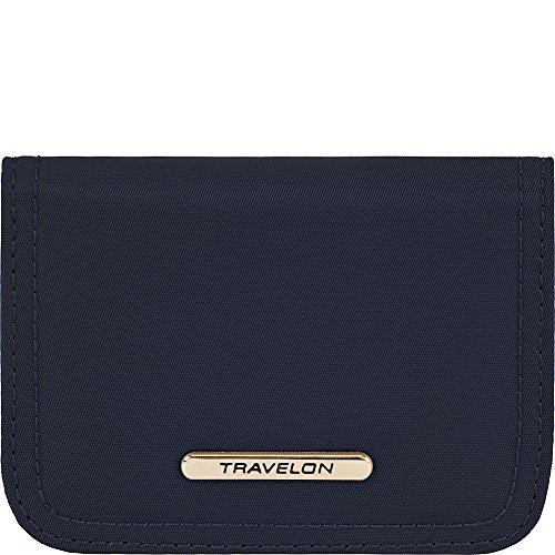 Travelon Women's Tailored Bifold Card Case, Sapphire