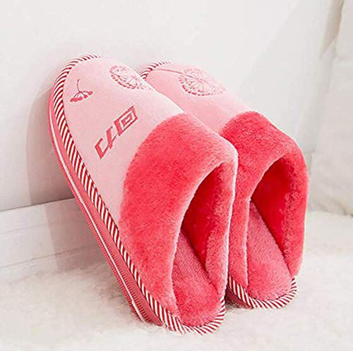 Fuweiencore Punto 39 34 Lavables Tejido B 35 Interior Goma Zapatillas De A Casa Con Diseño 38 Grueso Algodón color Tamaño A Antideslizante rqrvwZH