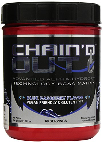 ALR Industries Chain'd Out, Vegan Friendly & Gluten Free Advanced Technology BCAA Matrix, Blue Raspberry, 600 Gram/ 60 serving