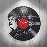 David Beckham Best Goals, Manchester United Football Fans, Vinyl Record Best Gift for Man Woman Dad Boy Girl Kovides Vinyl Wall Clock Home Decoration Living Room Inspirational, Silent Mechanism