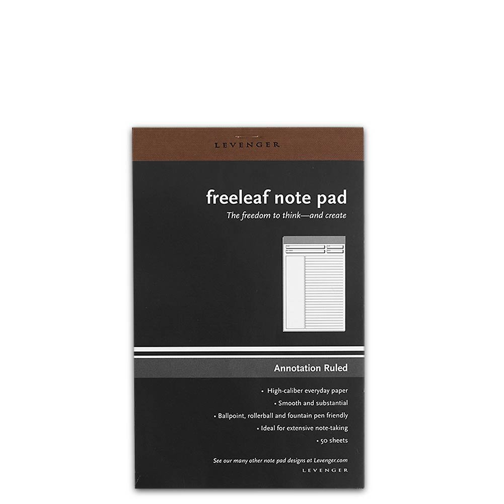 Levenger Freeleaf Annotation Ruled Pads, Set of 10 Legal Ruled Writing Pad (ADS9765 JNR) by Levenger