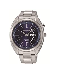 Seiko Kinetic 3-Hand with Day/Date Stainless Steel Men's watch #SMY121