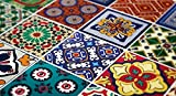 Tiles Stickers Decals - Packs with 48 Tiles (5.9 x 5.9 inches, Wall Art Tiles Decor Mexican Talavera Special Stickers)