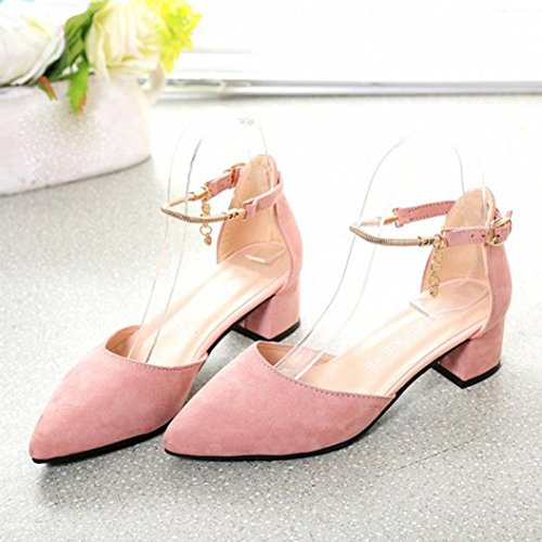 Fullkang High Heels Shoes Wedding Shoes Summer Sandals Shoes Platform Wedge Shoes Rose N1GnU