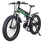 51zt%2BfMIKnL. SS150 GUNAI Mountain Bike Elettrica, Bici elettrica 1000W 48V 12.8Ah Bici Montagna E-Bike 21 velocità 26' Full Suspension…