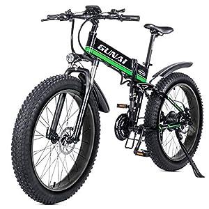 51zt%2BfMIKnL. SS300 GUNAI Mountain Bike Elettrica, Bici elettrica 1000W 48V 12.8Ah Bici Montagna E-Bike 21 velocità 26' Full Suspension…