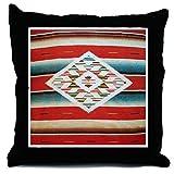 CafePress Vintage Red Mexican Serape - Decor Throw Pillow (18''x18'')