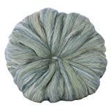 SPINNING FIBER pre-drafted Pencil Roving for easy hand spinning. Finest super soft Merino Silk Blend Combed Top, Acanthus