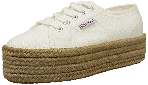 - Superga Womens 2790 Cotropew White Premium Canvas Trainers 9 US
