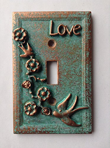 Love Style - Light Switch Cover - Aged Copper/Patina or Stone (Copper/Patina)]()
