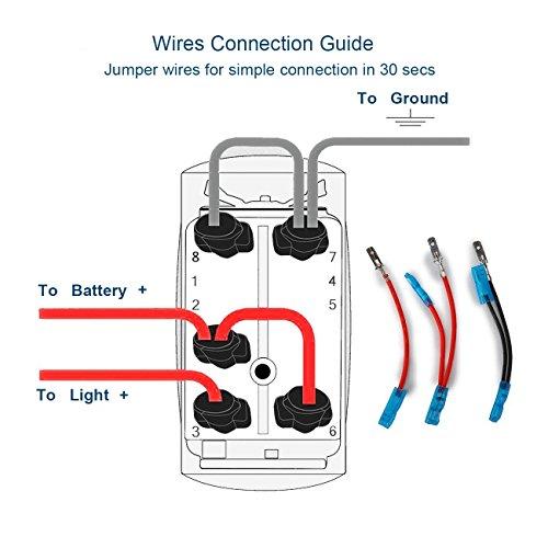 amazon com: xislet led light bar rocker switches for utv polaris ranger rzr  800-1000 xp turbo can am commander 800 maverick x3 rear lights rocker  switch,