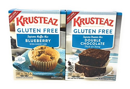Krusteaz Gluten Free Bake Mixes (Blueberry Muffin/Double Chocolate Brownie Bundle) - Free Blueberry Muffin