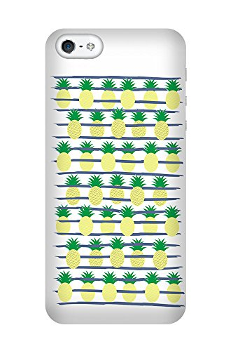 iPhone 4/4S Coque photo - Ananas Stripes blanc