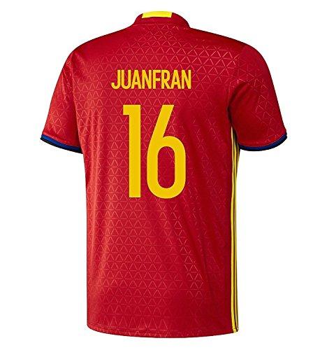 昨日アイドルファセットadidas Juanfran #16 Spain Home Jersey UEFA EURO 2016 (Authentic name & number) /サッカーユニフォーム スペイン ホーム用 フアンフラン