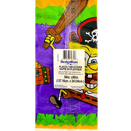 SpongeBob Pirate Party Plastic Table Cover (1ct)