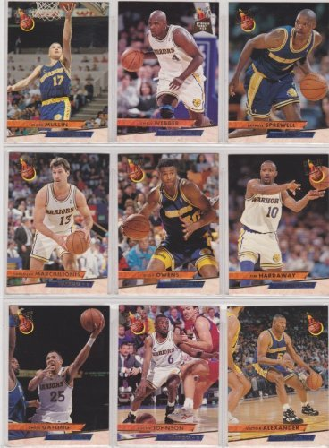Golden State Warriors 1993-94 Fleer Ultra Basketball Team Set (Chris Webber Rookie)***And Receive a FREE Stephen Curry 2009-10 Topps Rookie REPRINT Card**** (Chris Mullin) (Latrell Spreewell) (Sarunas Marciulionis) (Billy Owens) (Tim Hardaway) (Chris Gatling) (Avery Johnson) (Victor Alexander) (Keith Jennings) (Jeff Grayer) (Josh Grant Rookie) (Jud Buechler) (Bryon Houston)
