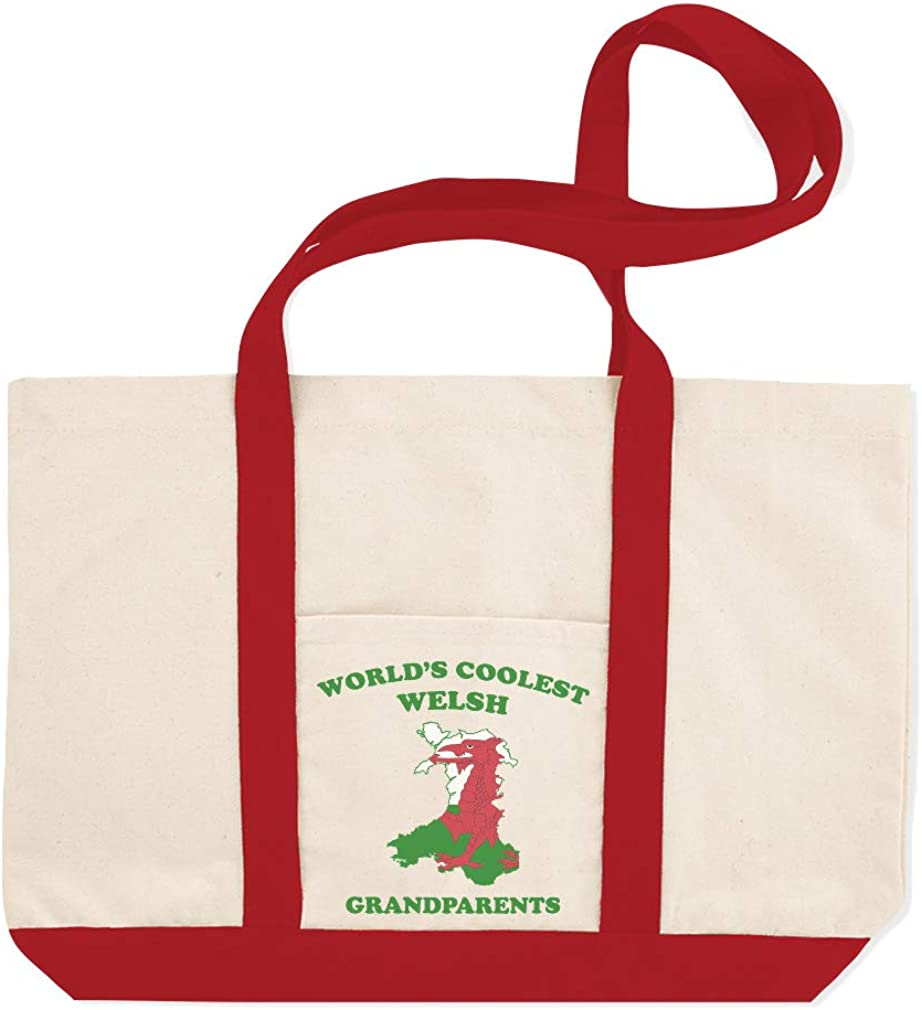 Canvas Shopping Tote Bag Worlds Coolest Welsh Grandparents Countries Wales Beach Bags for Women