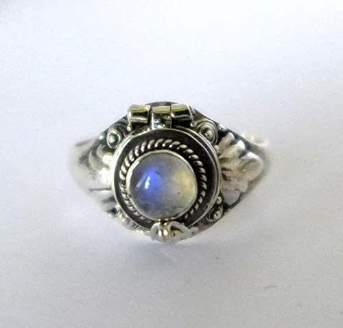 Rainbow Moonstone Poison Ring