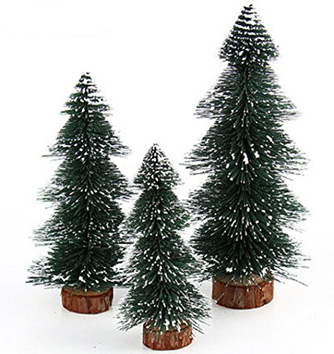 Sweet-Spring-Water-Mini-Frosted-Tabletop-Christmas-Pine-Tree-with-Wood-Base-Set-of-3
