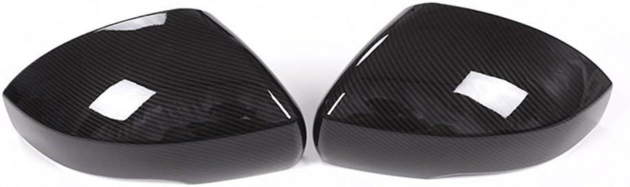 Carbon Style ABS-Kunststoff Seite R/ückspiegel Cover Trim Aufkleber Auto Zubeh/ör 2