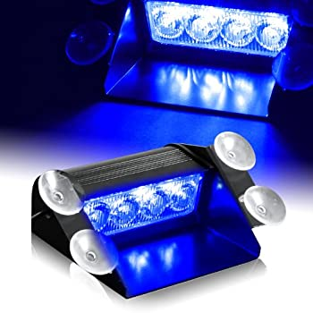 Blue generation 3 led law enforcement use strobe lights for interior roof dash for Interior car light laws california