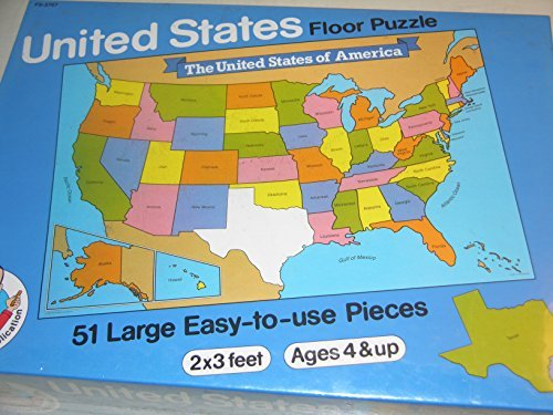 United States Educational Floor Puzzle - 51 Pieces