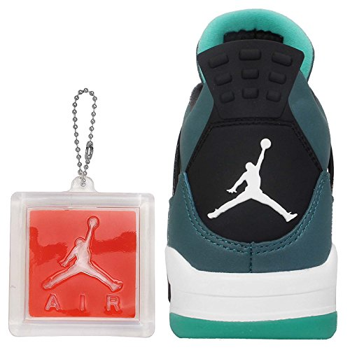 Jordan Nike Mens Air 4 Scarpe Da Basket Retrò Verde Acqua / Bianco / Nero
