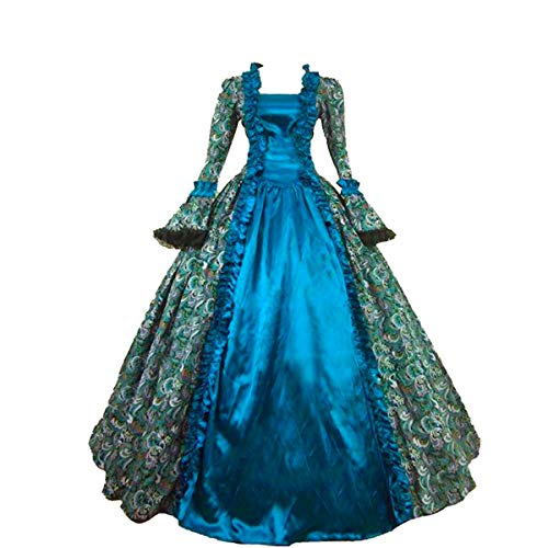 - KEMAO Women's Victorian Rococo Dress Inspiration Maiden Costume (XXL:Height67-69 Chest46-48 Waist39-41, Green)