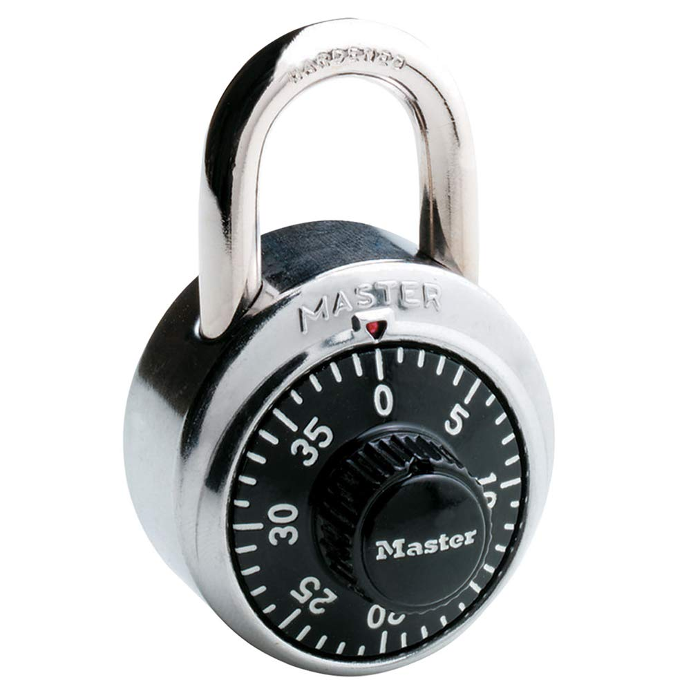 Master Lock 1500D Dial Combination Padlock 1 Pack Black