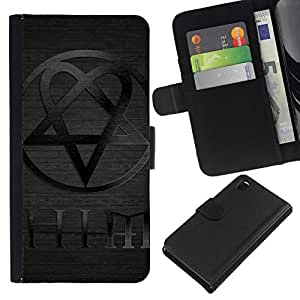 All Phone Most Case / Oferta Especial Cáscara Funda de cuero Monedero Cubierta de proteccion Caso / Wallet Case for Sony Xperia Z3 D6603 // HIM