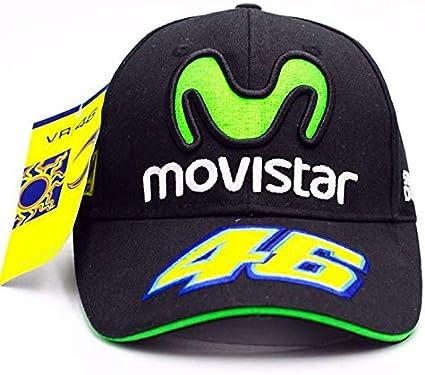 Gorra oficial VR46 Valentino Rossi Movistar Team Moto GP: Amazon ...