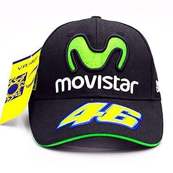 Gorra oficial VR46 Valentino Rossi Movistar Team Moto GP: Amazon.es: Coche y moto