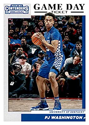 2019-20 Panini Contenders Draft Picks Game Day Tickets #15 PJ Washington Jr. Kentucky Wildcats Basketball Card