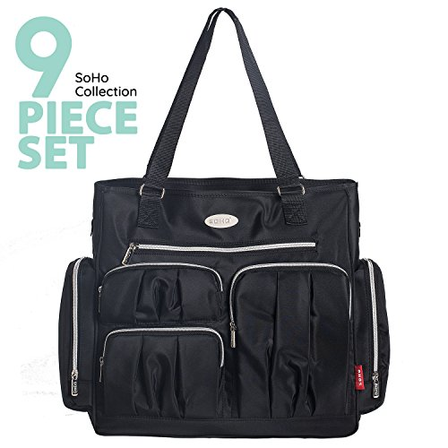 SoHo diaper bag Times Square 9 pieces nappy tote bag for bab