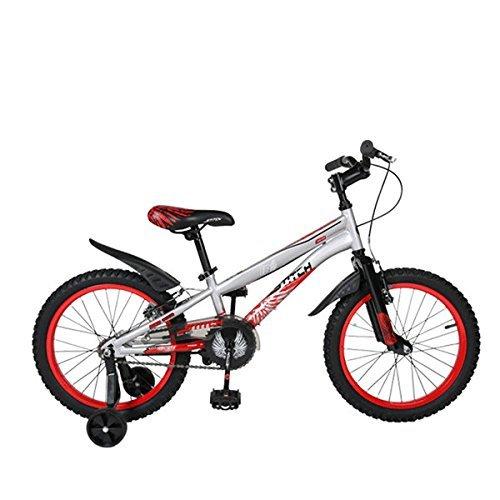 Cyfie ホーク 子供用自転車 全2サイズ 22インチ:6段変速 スタンド型;18インチ:変速なく 補助輪付き;前と後ろブレーキ付き 二つ泥よけ付き 軽量 高炭素鋼フレーム 簡単に安装 B07C9VD9X6 22インチ|レッド レッド 22インチ