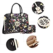 Dasein Handbags for Women Top Handle Bag Satchel Purse Frame Tote Briefcase