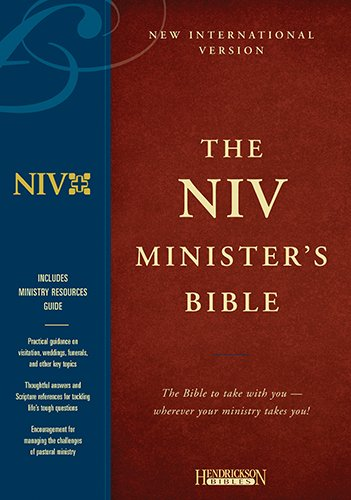 Holy Bible: New International Version Minister Black Genuine Leather